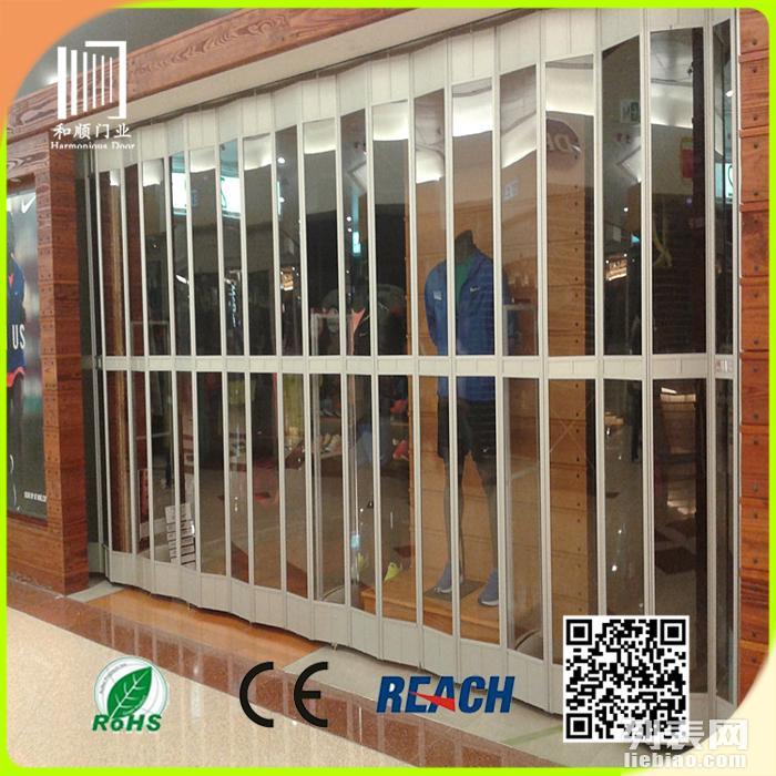 供应手动水晶折叠门/商铺折叠门