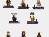 XSZ 儿童益智拼装积木 小颗粒婴儿早教玩具 海盗系列人偶8款
