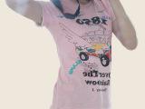 春夏韩国星期四岛屿女装小衫纯棉卡通图案短袖女上衣修身显瘦T恤