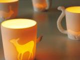 ZAKKA 陶瓷动物马克杯 牛奶咖啡陶瓷杯 创意水杯 杯子 日本