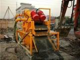 打桩泥浆固化浓缩脱水机-泥浆水河道淤泥处理分离固化设备租赁