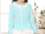 2014新品韩版品牌女童春装中大童波点公主童装 儿童蕾丝童外套