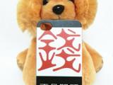 厂家批发苹果iphone4G/4S磨砂手机壳浮雕彩绘保护套个性定