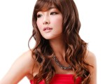 广州假发批发 女士长款时尚卷发假头发 棕色渐变假发套工厂