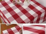 餐廳大方格臺布桌布加工定做廠家直銷