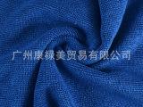 厂家供应超细纤维涤锦大珍珠布料 320克重 宝蓝色坯布 定做批发