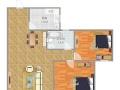 龙汇学源居2室2厅1卫1阳台高档家私电,设施完善