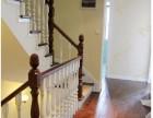 上海实木楼梯定制 实木楼梯美式款式 别墅楼梯复式家庭