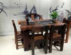 老船木茶几阳台小型迷你茶桌椅组合简约休闲泡茶桌功夫茶台茶艺桌