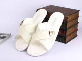 大牌欧美交叉男士拖鞋 舒适新款石头纹真皮男鞋 奢侈凉鞋微信代理