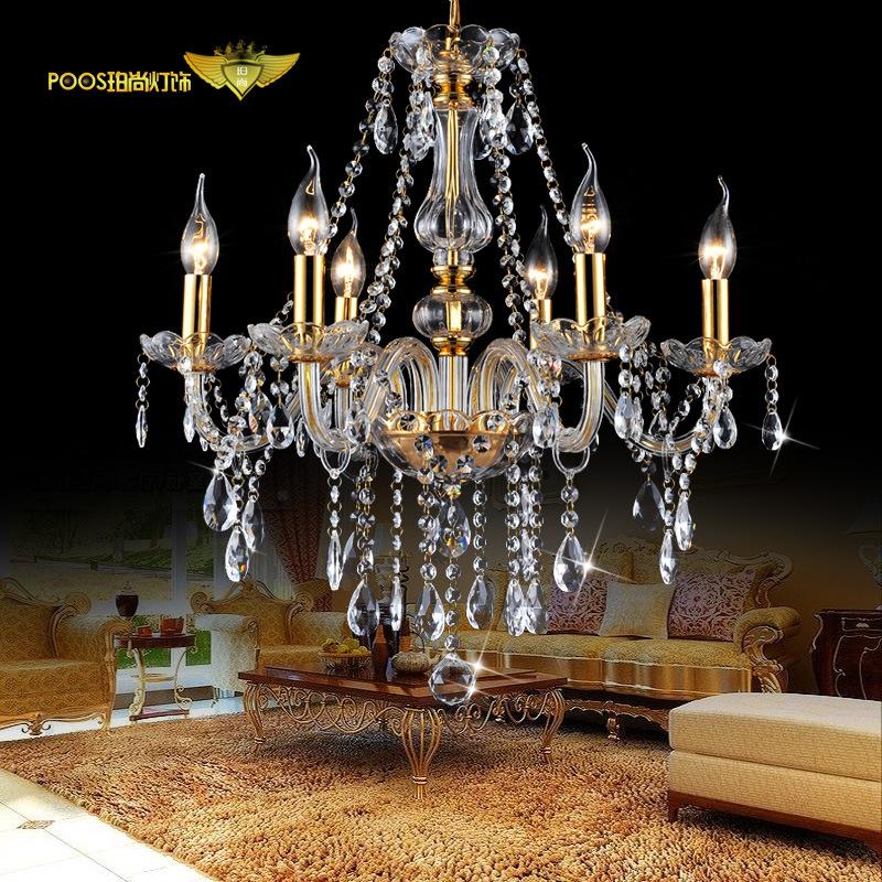 欧式水晶吊灯奢华高档客厅灯卧室酒店工程透明水晶灯