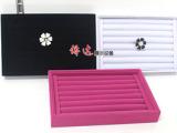 【侨达】3色 戒子展示盒 首饰展示盒 植绒/白皮戒子盒