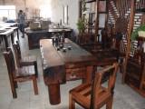 老船木茶桌茶批发功夫泡茶台图片茶室茶道桌椅组合批发