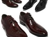 外贸欧美风格尖头系带皮鞋男真皮低帮系带上班正装皮鞋帅气小码37