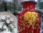 西安开业迎客松大花瓶 青花瓷迎客松墨绿迎客松大花瓶搞庆典
