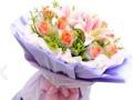 蚌埠网上鲜花淮上区网上专业玫瑰花免费配送百合