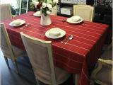 双经双纬全棉桌布红大格 台布 桌巾  餐桌布 格子桌布 厂家直销