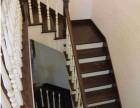 复式简约楼梯风格定制 榉木黑白配楼梯设计 家庭混搭木质楼梯