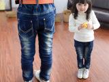 【小酷熊】2015年冬季新款男童女童加绒加厚不掉色不缩水牛仔裤