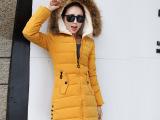 【实拍】新款羽绒服 女 桃皮绒修身中长款 韩版羽绒服 棉衣