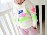 男童长袖t恤 卡通字母儿童打底衫 2015新款 韩版宝宝卫衣潮