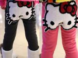 女童中小童打底裤加厚加绒一件代发可爱猫咪保暖淘宝一件代发