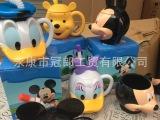 迪士尼公仔儿童吸管杯米奇米妮维尼熊唐老鸭戴丝学饮杯卡通水杯