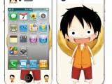 厂家批发苹果4闪钻贴纸iPhone5/5s贴膜手机膜皮纹彩膜卡通