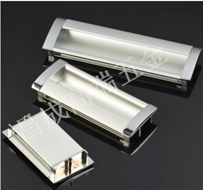 铝合金暗拉手 内嵌式机箱抽屉暗扣拉手 工业机械设备把手