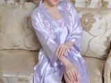 高贵真丝夏季新款性感吊带睡袍两件套优雅绣花女士丝绸睡衣居家服