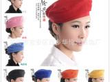 热销厨师帽餐厅服务员工作帽 贝雷帽 订制工作服工作帽 可批发