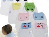 6层 加大码 全棉刺绣纱布儿童汗巾吸汗巾 垫背巾24*35单条价