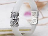 民族风925纯银复古泰银手环 马克赛天然
