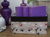 布艺桌面收纳盒储物盒 创意抽屉式杂物整理盒 化妆品收纳盒子