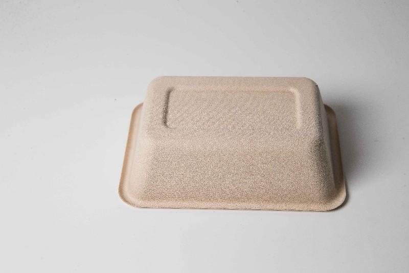 上海伊德威尔一次性纸浆餐具700ml午餐盒底