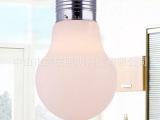 工厂批发 玻璃奶白大灯泡餐厅灯简约个性复古灯泡酒店吧台灯 特价