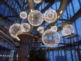 铭星现代LED星星灯新中式餐厅吊灯家庭艺术铁艺饭厅书房灯饰
