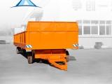 河南百特电动平车厂家直销大型平板拖车 无动力平板车挂车