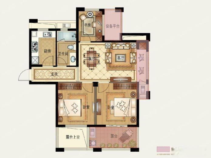 同和悦园 3房 全新精装修 家电齐全 房间没住过 新小区