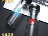 耐隔热加厚透明水晶茶杯水杯定制logo刻字