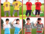 批发14新款夏季小学生儿童校服班服套装定制夏装幼儿园园服运动服