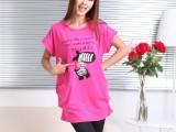 2014日韩夏季女装批发 胖MM新款圆领韩版大码女装短袖T恤