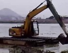 儋州市那大镇水陆两用挖掘机出租适用于滩涂开发河道清淤