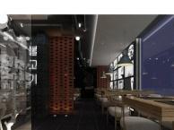 【百家装饰】韩式料理店,120平,工业风格.