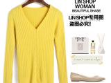 素玛suma 2014秋季新款韩版女装 修身时尚V领长袖开衫纯色