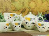 外贸原单 猫咪先生 夏目友人帐茶具 陶瓷咖啡具 日本动漫周边产品