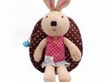 2014新款毛绒公仔儿童书包 卡通小白兔毛绒双肩包 动物毛绒背包