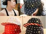 韩版刺绣五星帽子满天五星图案平沿帽街舞嘻哈棒球帽子男女潮