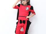 2014春装童装 新款女童两件套儿童韩版套装 春季童套装批发