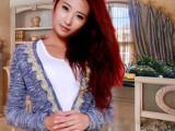 2014秋季新款韩版亮丝金线花边小毛衣开衫针织衫小外套女 批发